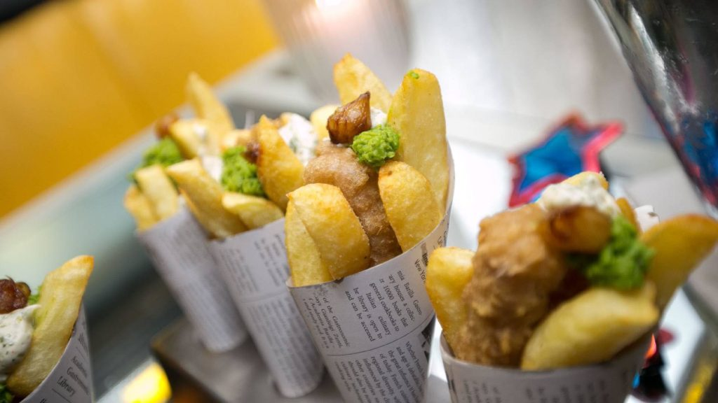 Corporate events by the taylor lynn corporation Fish and Chips